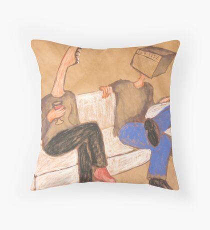 Rockchick meets Gearhead Throw Pillow