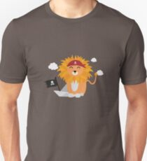 Lion Pirate with Pirateboat R4utl Unisex T-Shirt