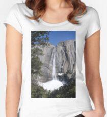 Yosemite upper falls, Yosemite national Park, California USA Women's Fitted Scoop T-Shirt
