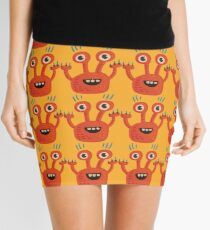 Funny Orange Creature Mini Skirt