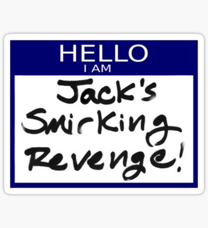 "Fight Club- ""I AM JACK'S SMIRKING REVENGE"" Sticker"