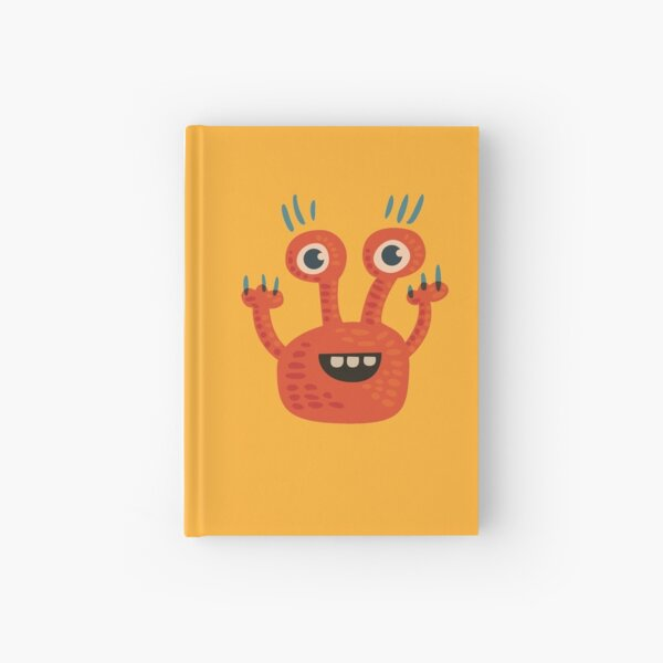 Cute Orange Monster Is Funny Too Hardcover Journal
