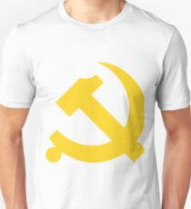 Chinese Communist Flag Hammer & Sickle Unisex T-Shirt