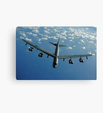A U.S. Air Force B-52 Stratofortress flies a mission over the Pacific Ocean. Canvas Print