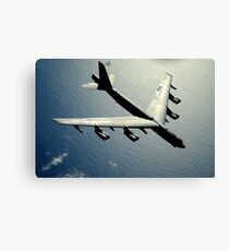 A B-52 Stratofortress in flight over the Pacific Ocean. Canvas Print