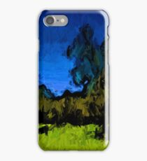 Gold Trees in the Blue Wind iPhone Case/Skin