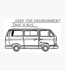 Save the Environment - take a bus Photographic Print