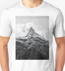 Mountain landscape Black and white Unisex T-Shirt