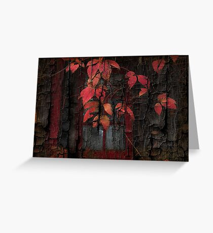 Textured Vine Greeting Card