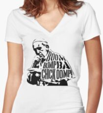 Yo Pop Women's Fitted V-Neck T-Shirt
