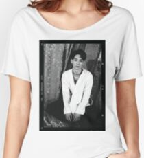exo chen lotto black and white concept picture Women's Relaxed Fit T-Shirt