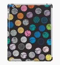 Polka Dot Sketch Pattern Colour iPad Case/Skin