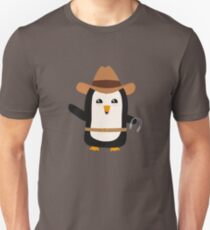 Cowboy Penguin Wild West Rb0s6 Unisex T-Shirt