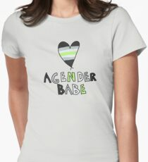 Agender Babe Women's Fitted T-Shirt