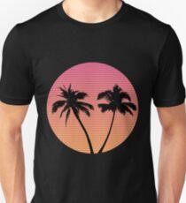 Retro Wave Palm Tree Sunset Unisex T-Shirt