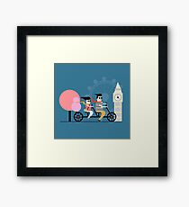 London Bike Ride Framed Print
