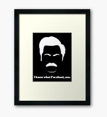 Ron - White Framed Print