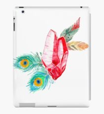 Crystals and Feathers - Ruby iPad Case/Skin