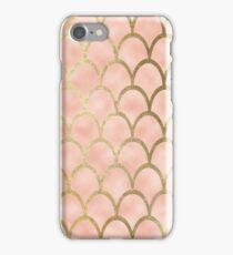 Peach mermaid scales iPhone Case/Skin