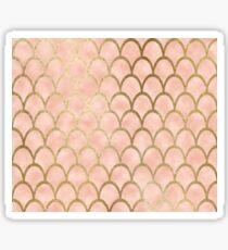 Peach mermaid scales Sticker