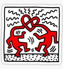 Haring Love Sticker