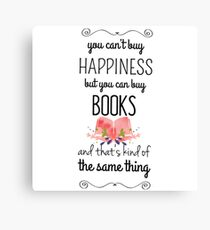 happiness books Canvas Print