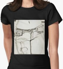 Sexy Girl Womens Fitted T-Shirt