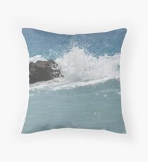 the Mediterranean sea Throw Pillow