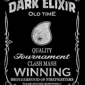 Dark Elixir Clash Mash Winning Brotherhood Firefights Funny Gift by justcoolmerch