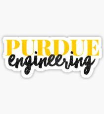 Pegatina Ingeniería Purdue - Estilo 1