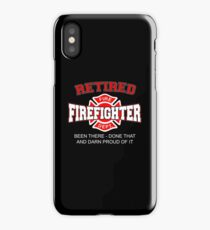 RETIRED FIREFIGHTER iPhone Case
