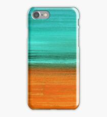 Aqua Green and Orange iPhone Case/Skin