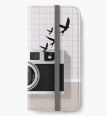 vintage camera and birds iPhone Wallet/Case/Skin