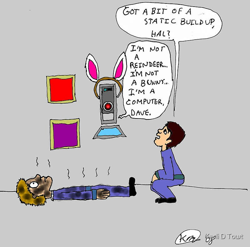Easter with the HAL-9000 by Karli D Towt