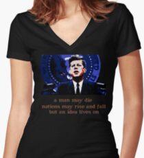 JFK Women's Fitted V-Neck T-Shirt