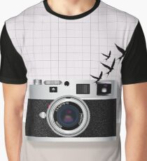 vintage camera and birds Graphic T-Shirt