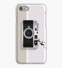 vintage camera and birds iPhone Case/Skin