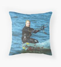 Kitesurfer Throw Pillow