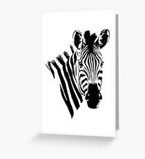 Zebra Close-up | African Wildlife Greeting Card