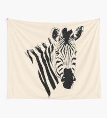 Zebra Close-up | African Wildlife Wall Tapestry