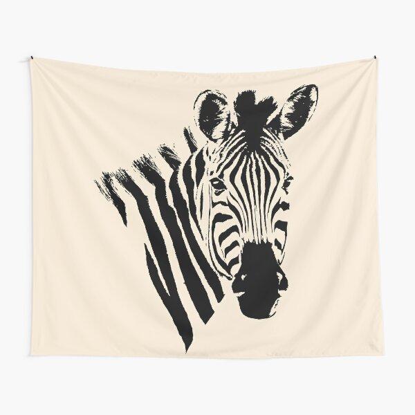 Zebra Close-up   African Wildlife Tapestry