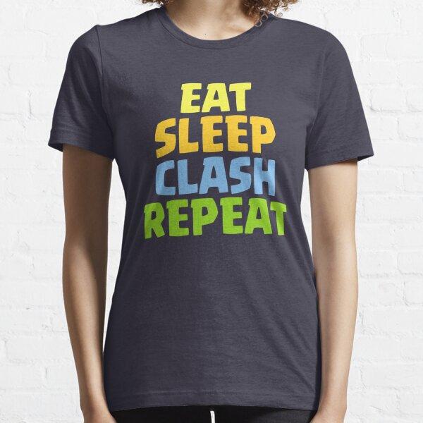 Mangez le choc de sommeil Répétez le cadeau drôle T-shirt essentiel