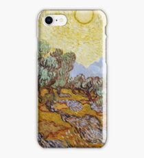 Vincent van Gogh - Olive Grove, Pink Sky iPhone Case/Skin