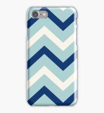 Marine zig zag - clear blue sky iPhone Case/Skin