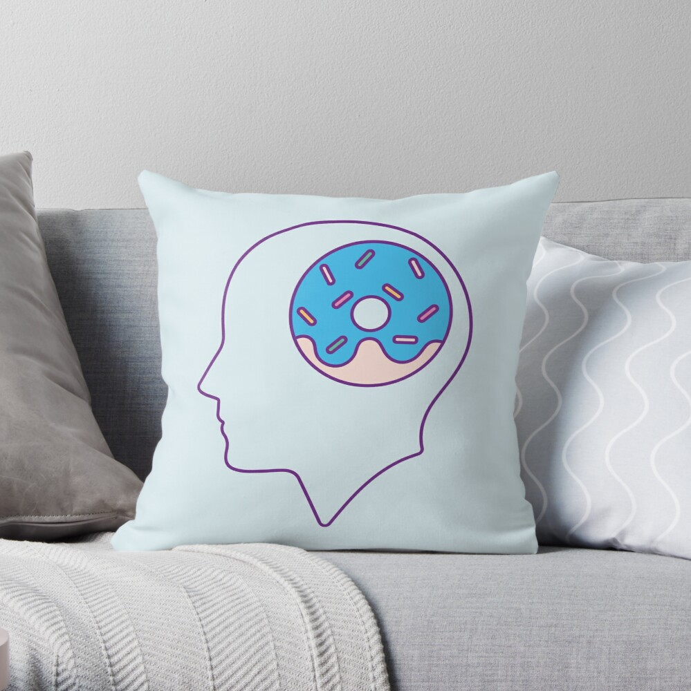 Donut Think Throw Pillow