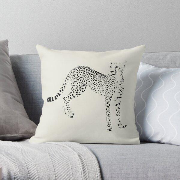Cheetah on Watch | African Wildlife Throw Pillow