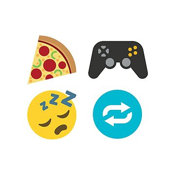 Eat, Game, Sleep, Repeat ~ Emoji by itsyou