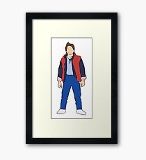 Marty McFly, Back to the Future Framed Print