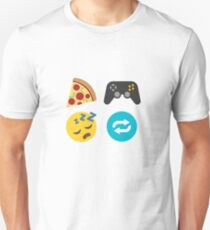 Eat, Game, Sleep, Repeat ~ Emoji Unisex T-Shirt