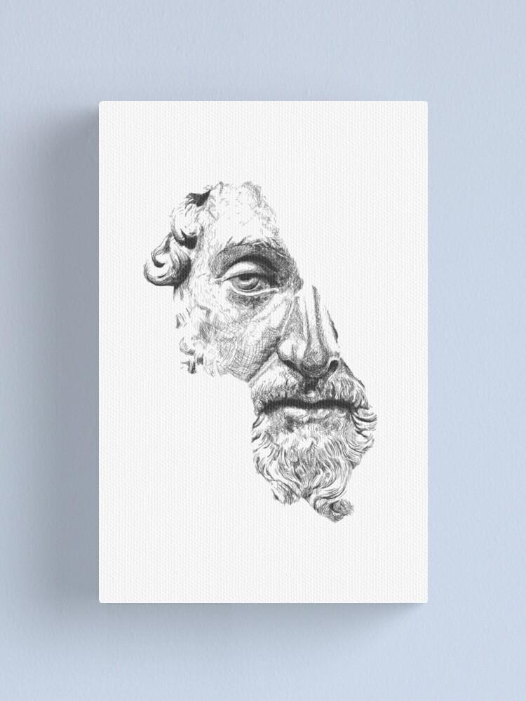 Alternate view of MARCUS AURELIUS ANTONINUS AUGUSTUS / black and white Canvas Print